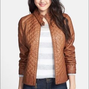 Guess quilted faux leather jacket size Small